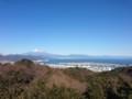 日本平から富士山と駿河湾を望む