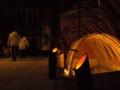 水路の竹灯り