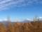 紅葉の向こうの富士山