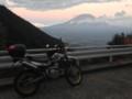 猪之頭トンネルの先、夕暮れの富士山