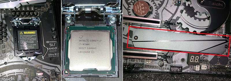 Z390 Taichi CPU実装