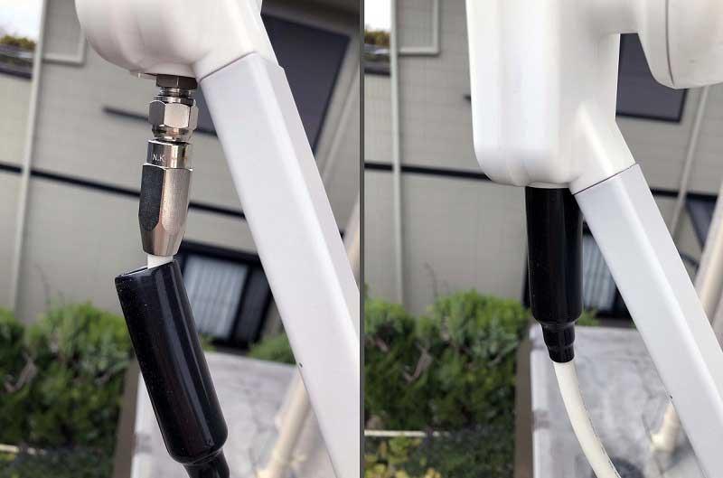 防水接栓取り付け