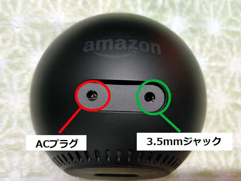 Echo Spot背面