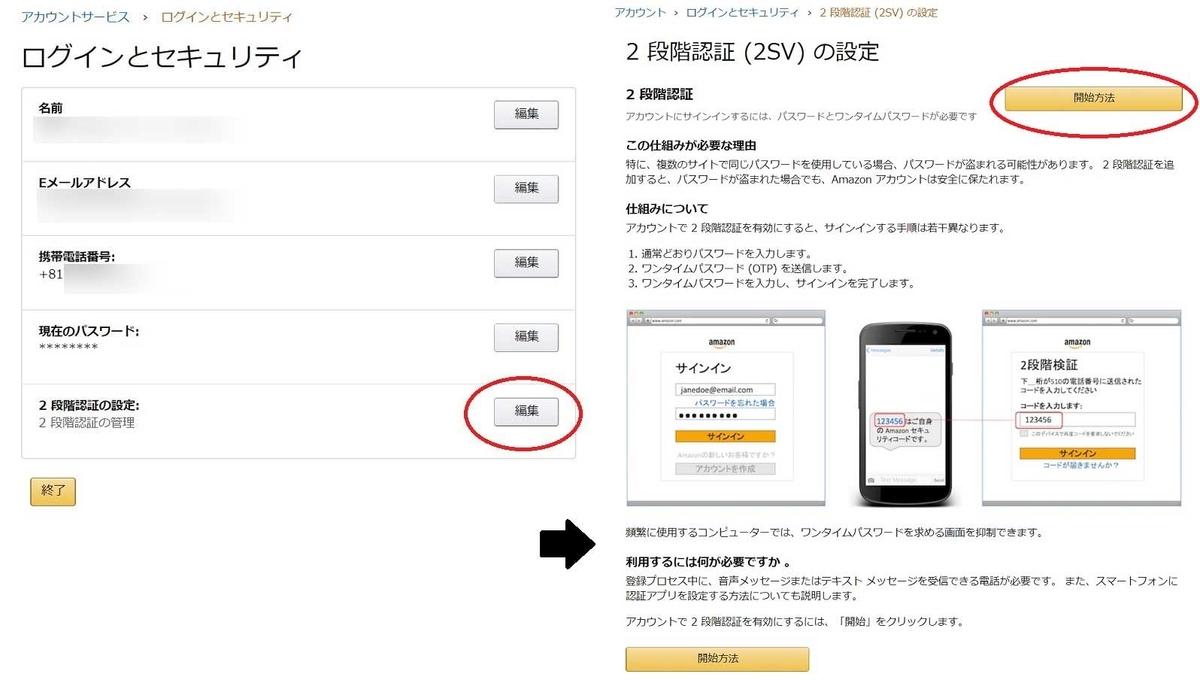 Amazon二段階認証-2a