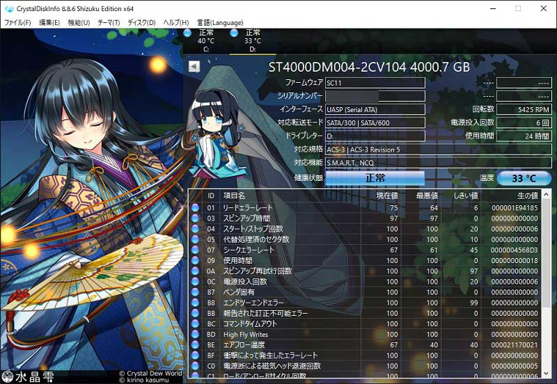 MY040UBK-YY CrystalDiskInfo