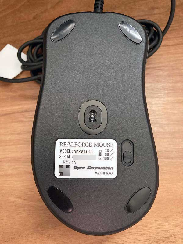 REALFORCE MOUSE 底面