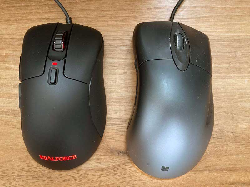 REALFORCE MOUSE 比較