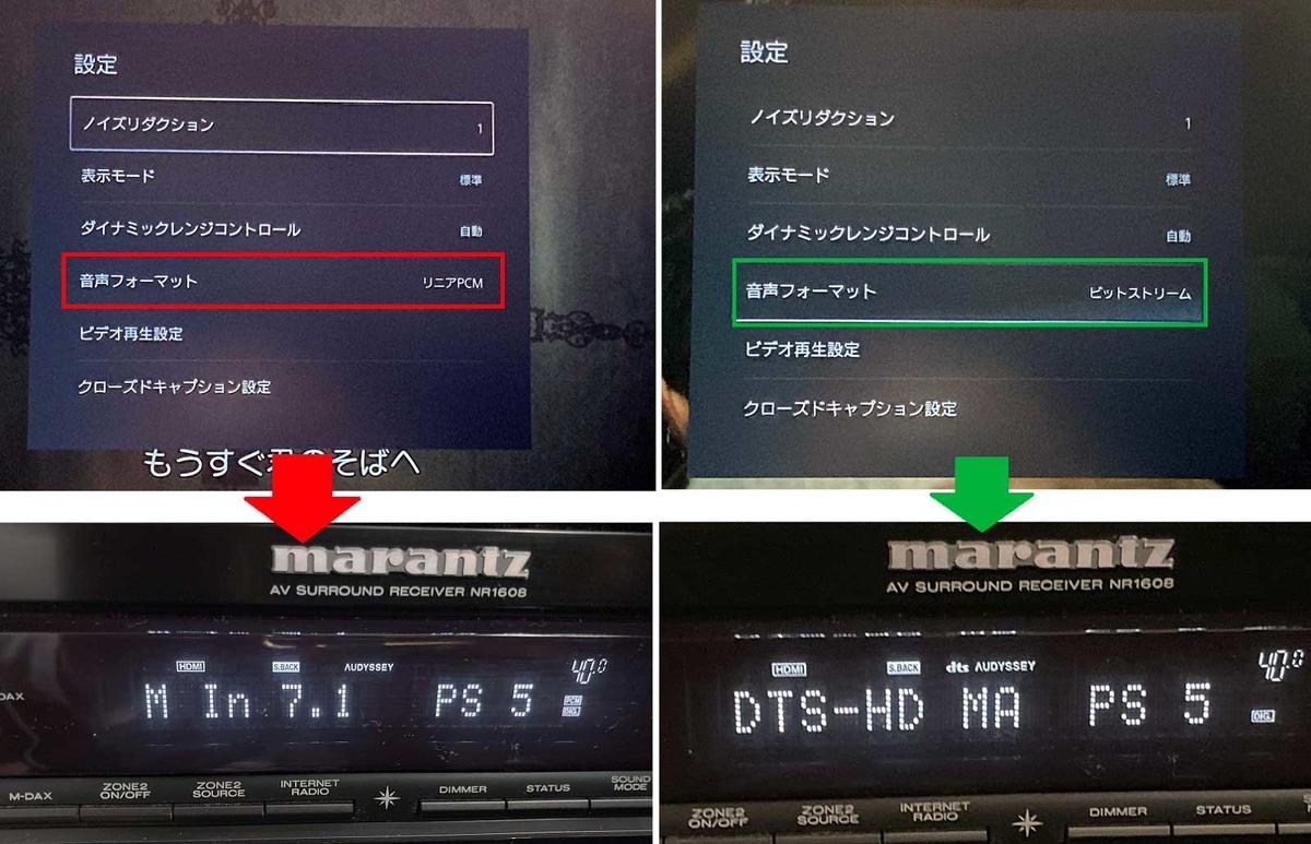 PlayStation 5 Blu-rayオーディオ出力