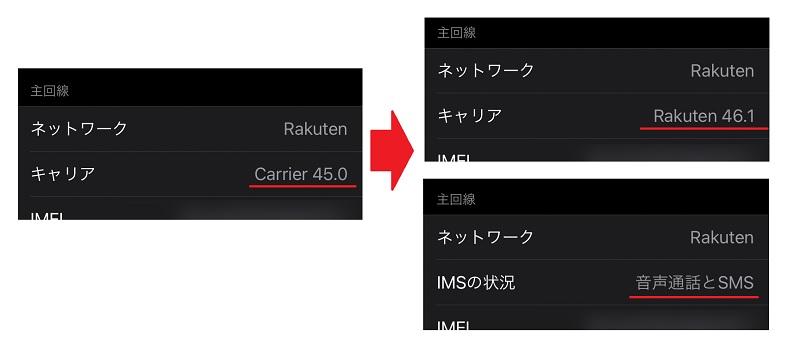 iOS 14.5x楽天モバイル