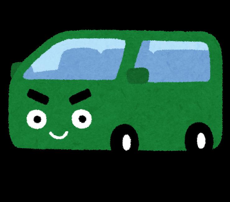 ワンボックスカーの絵