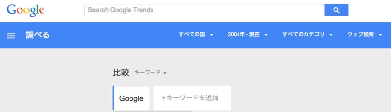 キーワードにGoogleを追加