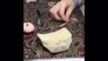 ビーズ刺繍作業風景1