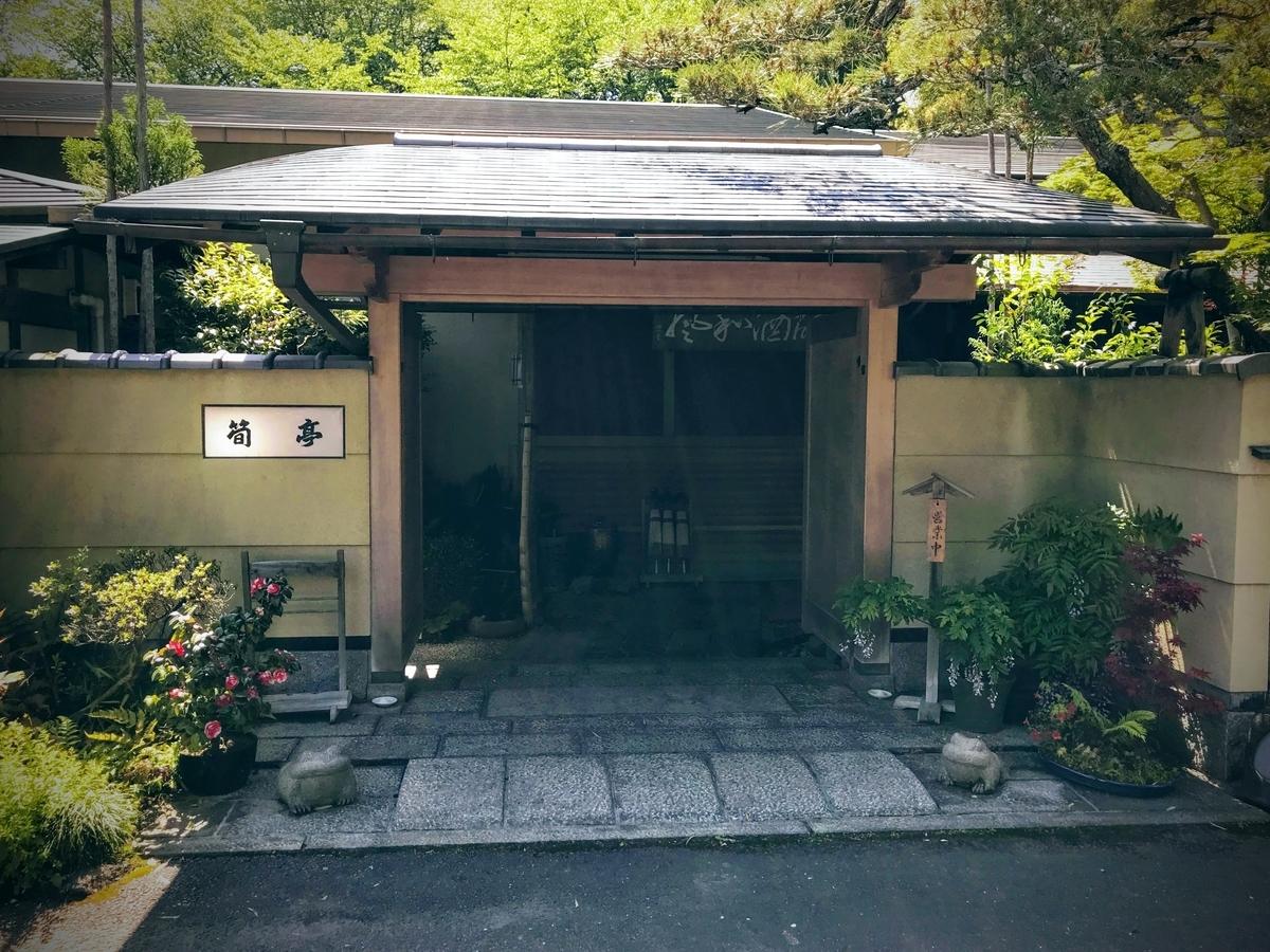 筍亭の玄関 | 春の京都で筍を味わう「筍亭」