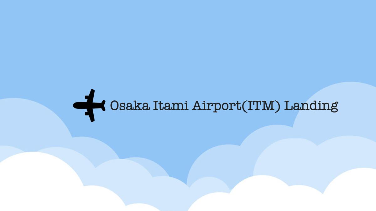 大阪・伊丹空港 着陸光景