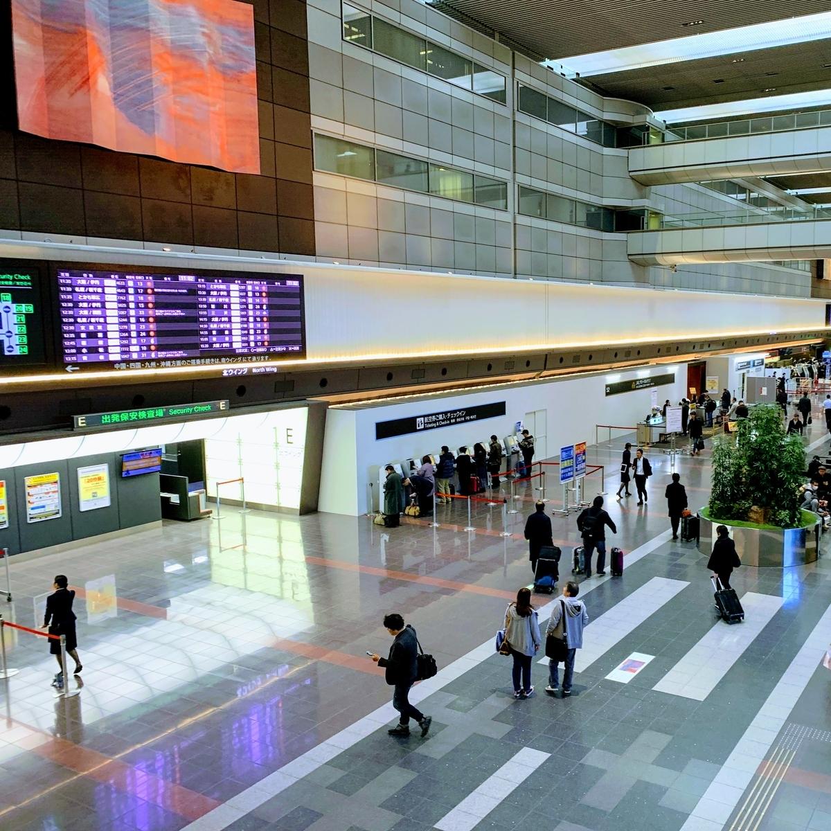 空港に来てもあっち側(保安検査後のエリア)に行けない   エアチャイナフェスタ2019東京