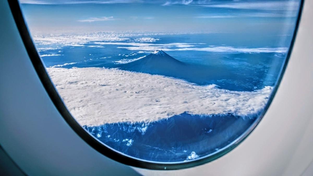 2021年の富士山の初冠雪に遭遇!