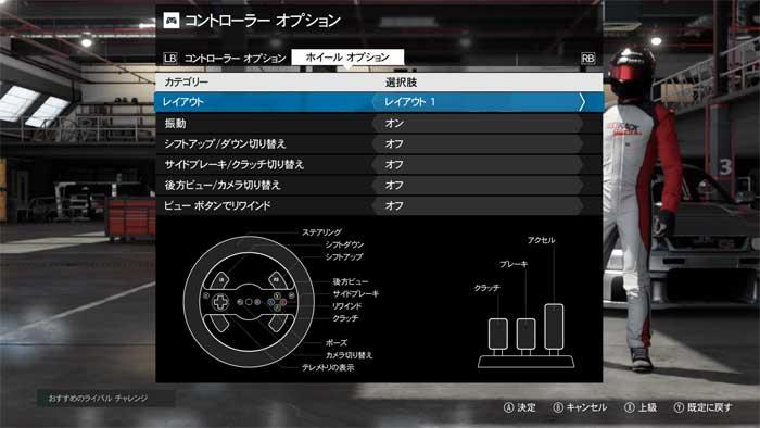 ハンコン設定画面「Forza Motorsport  7」