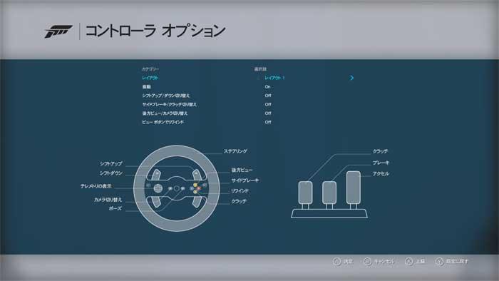 ハンコン設定画面「Forza Motorsport  6」