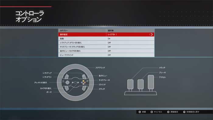 ハンコン設定画面「Forza Motorsport  5」