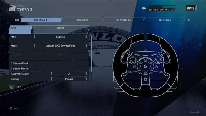 ハンコン設定画面「Project Cars 2」