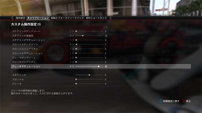 ハンコン設定画面「F1 2017」