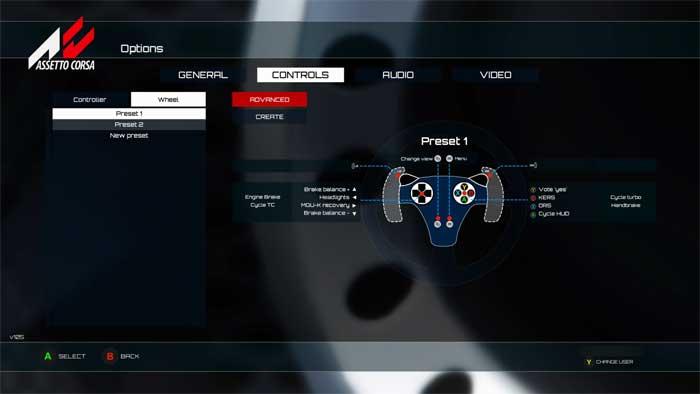 ハンコン設定画面「Assetto Corsa」