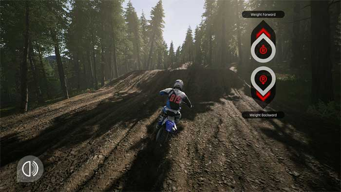 「MXGP Pro」チュートリアル画面