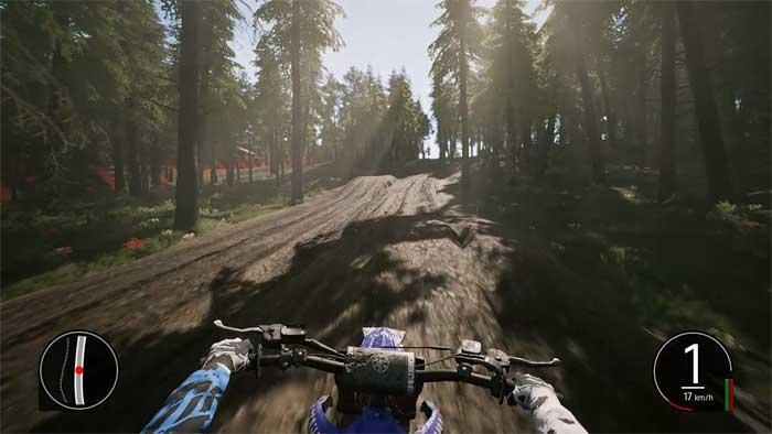 「MXGP Pro」ライダーヘルメット視点