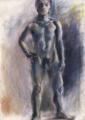 [絵][デッサン]男性モデル90分ポーズ クロッキー 2010年4月10日