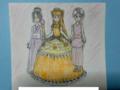 [着物ドレス][ボールガウンドレス][ハーレムパンツ][オリキャラ][プリンセス][お姫様][ドレス][アザラ姫][イザベラ姫][花姫]3人のプリンセスの花姫・イザベラ姫・アザラ姫