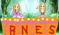 [手袋][ドレス][気球]双子姫の気球(左側・姉、右側・妹)