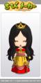 [ドレス][峠乃つづら織][つづら織][ちびメーカー]ちびメーカーでお姫様姿のつづら織様1