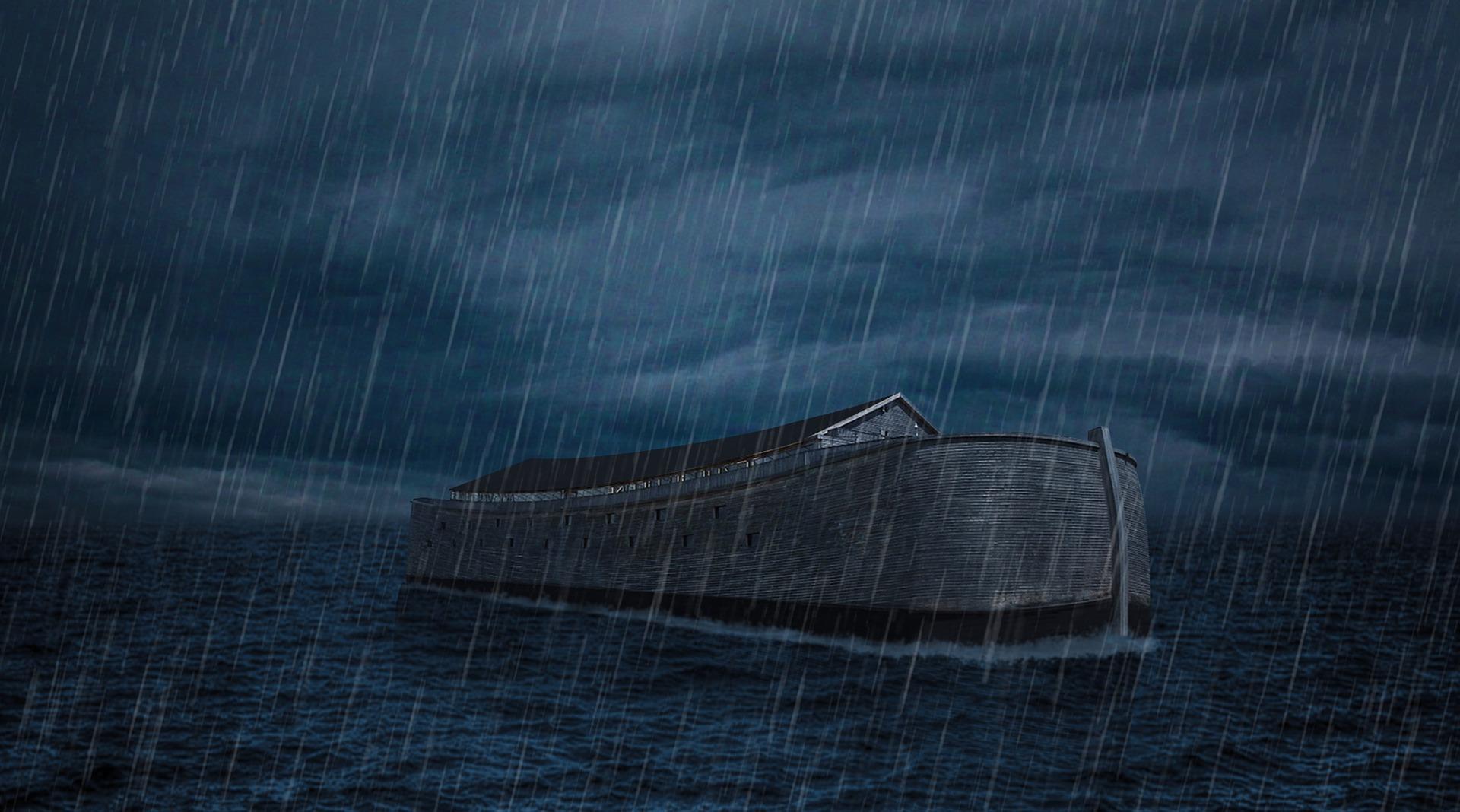 水上を漂うノアの箱舟