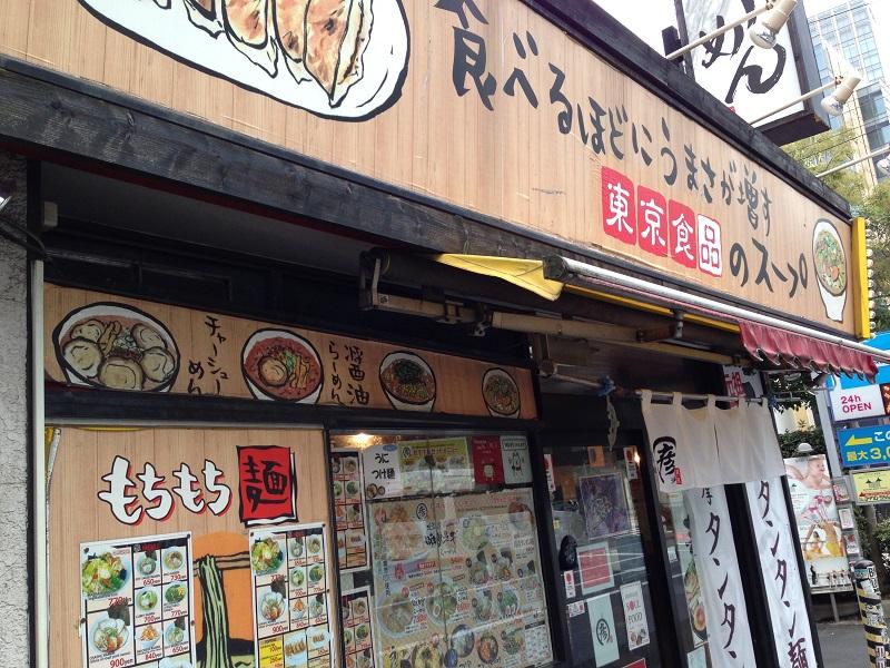 東京食品「まる彦」の外観