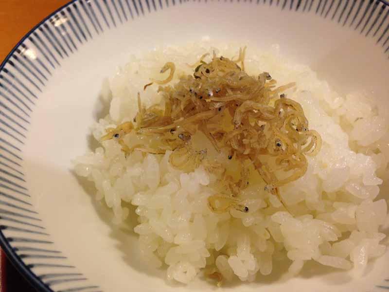 しぐれ茶屋 侘助 乃木坂店のおじゃこご飯