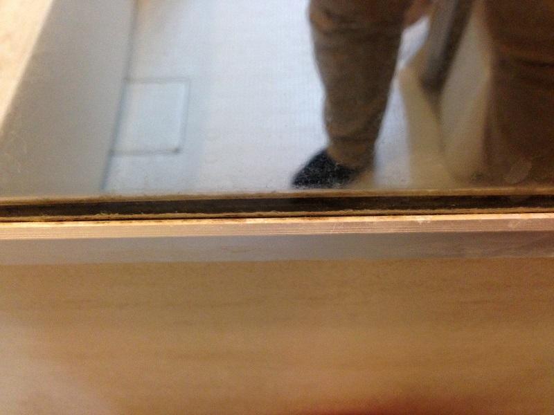 汚い浴室の鏡