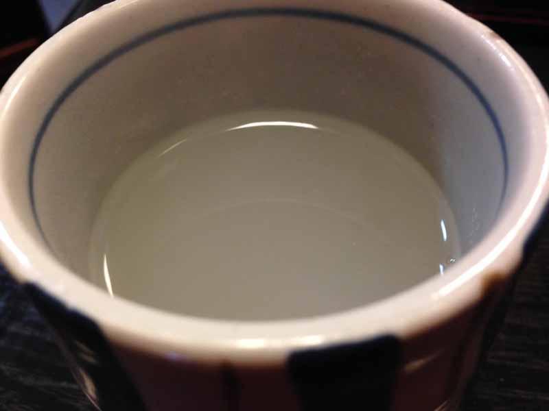 長寿庵 乃木坂の蕎麦湯