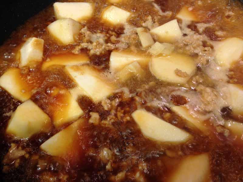 里芋と鶏ひき肉のそぼろ煮