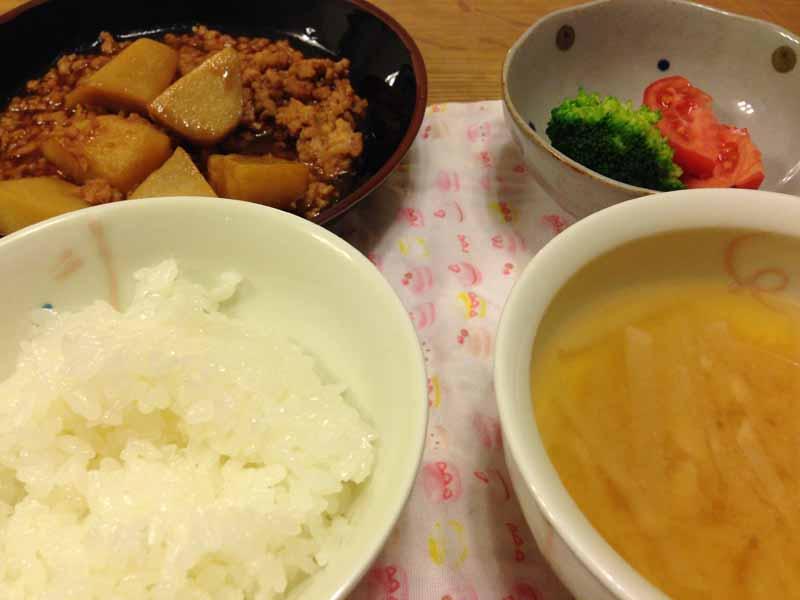 保育園児の晩御飯