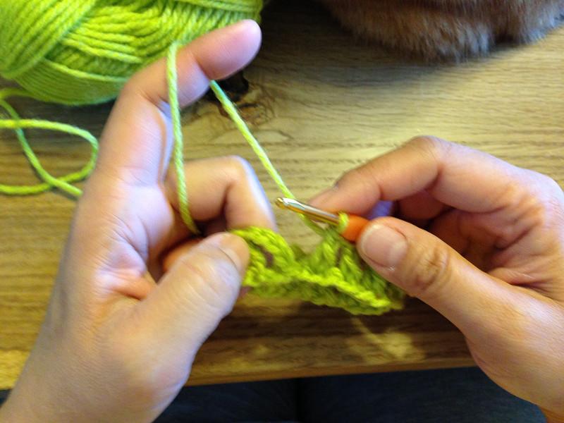長編みの編み終わり