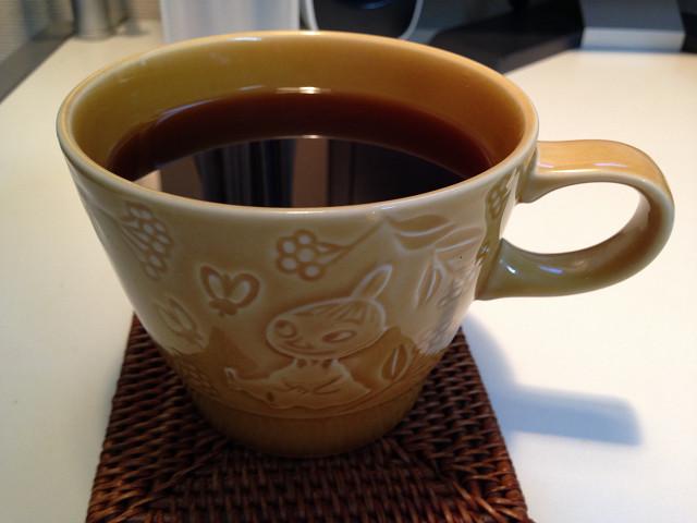 自分で淹れたコーヒー