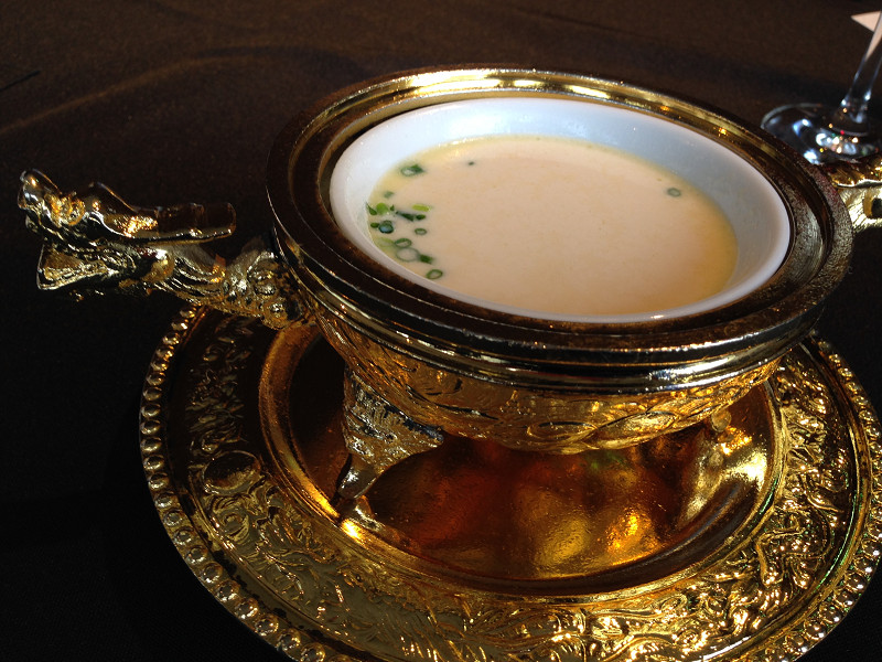 生湯葉入り豆乳スープ