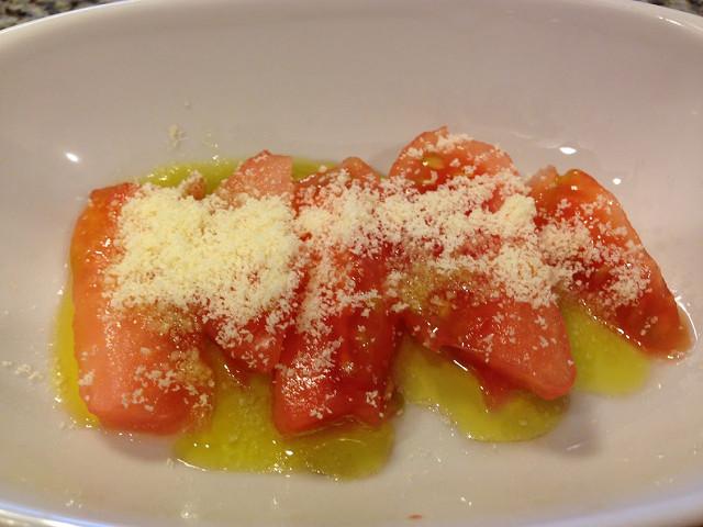 トマトの粉チーズ焼き