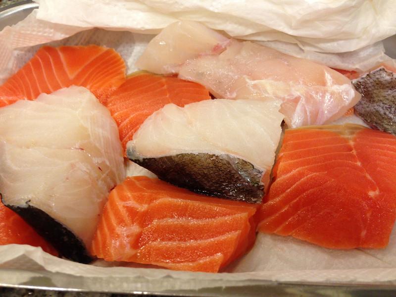 海鮮鍋の魚たちの下処理