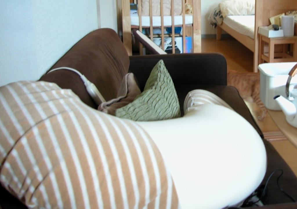抱き枕で赤ちゃんを眠らせる