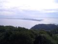志賀島潮見公園から海の中道方面