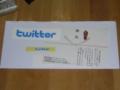 やったーTwitter公式ステッカーをもらっちゃったよー