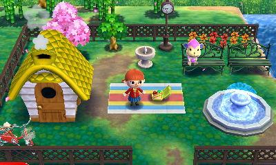家でピクニック・庭