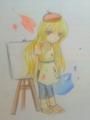 彼女は画家