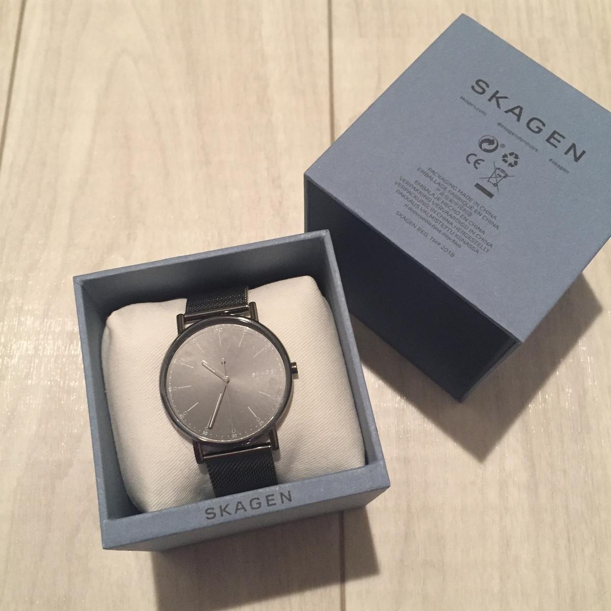 SKAGEN スカーゲン SKW6577 ビジネス 腕時計 グレー メッシュベルト バンド 革 時間 ビジネスマン 社会人 新社会人